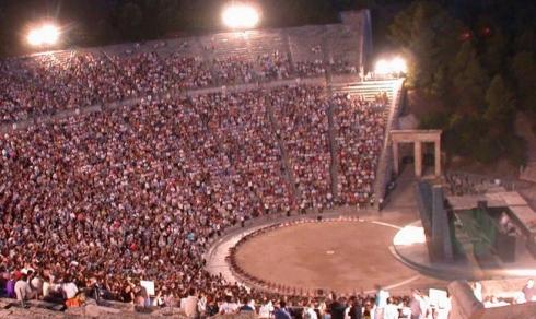 Παράσταση στο Αρχαίο Θέατρο τής Επιδαύρου