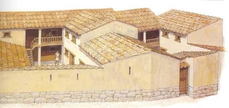 Αθήνα, 5ος αιώνας π.Χ. Ο οίκος και ο ανδρών εξοικονομούνται στον εκάστοτε προσφερόμενο χώρο, μερικές φορές σε διάδρομο έξω από την αυλή και δίπλα σε μαγαζί, το οποίο, βέβαια, έχει ανεξάρτητη είσοδο.