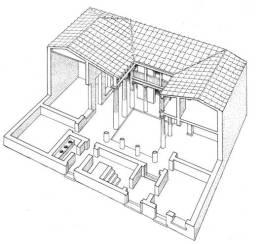 Αναπαράσταση οικίας από τη Δήλο, μετά το 166 π.Χ.