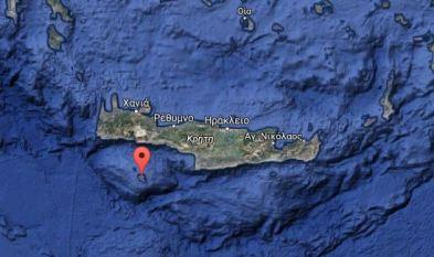 Το νησί Γαύδος, νότια τής Κρήτης