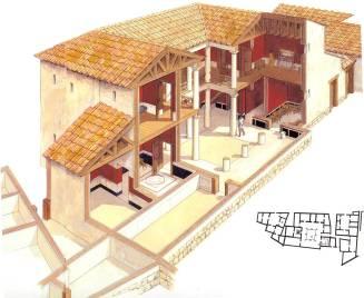 Μερικά σπίτια τής Αθήνας είχαν αναπτύξει, ήδη πρώιμα, την πολυτελέστερη δομή τού περιστυλίου.