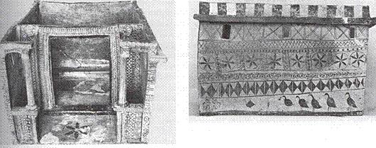 Πήλινο ομοίωμα οικίας, μέσα 6ου αιώνα π.Χ., Θήρα. Αγαπημένο αντικείμενο μιας εταίρας στον τάφο της.