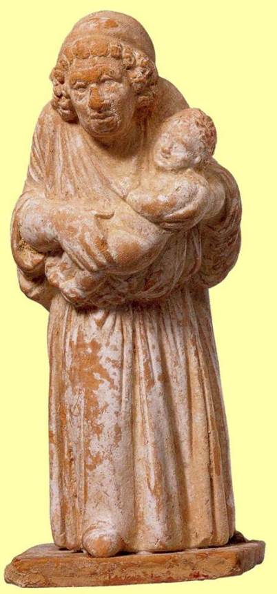 Πήλινο ειδώλιο τροφού, 4ος αιώνας π.Χ., Ν. Υόρκη