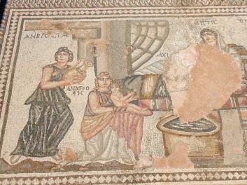 Λουτρό Αχιλλέα, ψηφιδωτό, 4ος αιώνας μ.Χ., Πάφος
