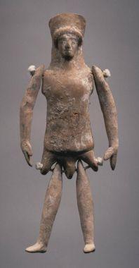 Πήλινη βοιωτική πλαγγόνα (κούκλα), 5ος αιώνας π.Χ., Princeton University Art Museum