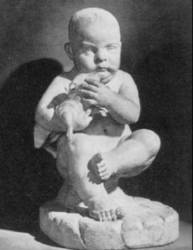Αγόρι και σκυλάκι. Μάρμαρο. Ρωμαϊκό αντίγραφο ενός πρωτοτύπου που χρονολογείται στον 2ο ή τον 1ο αιώνα π.Χ. Ύψος 0,483 μ. Ρώμη, Καπιτώλιο, Palazzo dei Conservatori