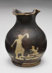 Ερυθρόμορφη χους, εκπαίδευση σκύλου από ένα παιδί, 420 π.Χ., Harvard Art Museums