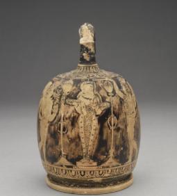 Ερυθρόμορφη λήκυθος, σκηνή θυσίας στην Αφροδίτη, 410 π.Χ., Ashmolean Museum, University of Oxford.