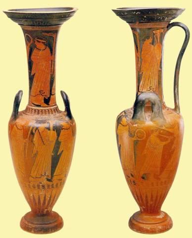 Αττική ερυθρόμορφη λουτροφόρος-υδρία του ζωγράφου του Πανός, περ. 470 π.Χ. Houston, Museum of Fine Arts, Annette Finnigan Collection
