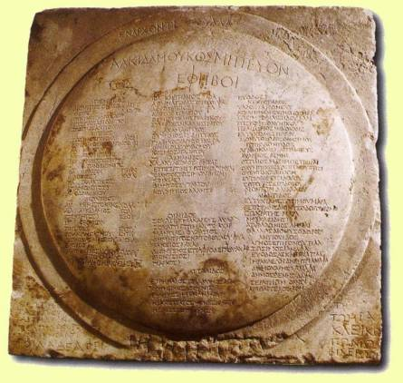 marble-shield-relief-with-ephebic-list-144-148-A.D.-Epigraphy-Museum-Athens