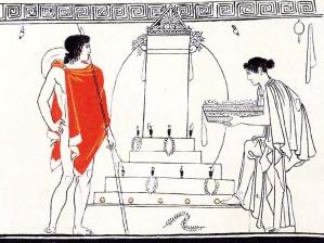 """Λευκή λήκυθος του """"ζωγράφου του Bosanquet"""", 440 π.Χ."""