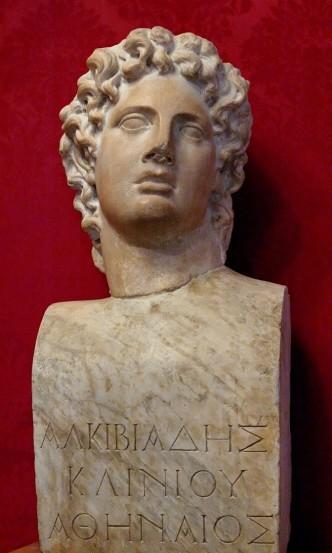 Προτομή του Αλκιβιάδη Ρωμαϊκών χρόνων. Αντίγραφο Ελληνιστικού έργου.