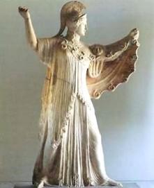 Μαχόμενη Αθηνά. Ρωμαϊκό αντίγραφο Ελληνικού προτύπου.