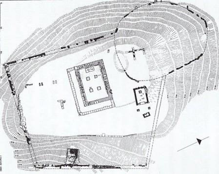 Ιερό Αθηνάς Σουνιάδος - Κάτοψη