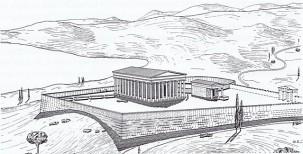 Ιερό Αθηνάς Σουνιάδος - Γραφική αναπαράσταση