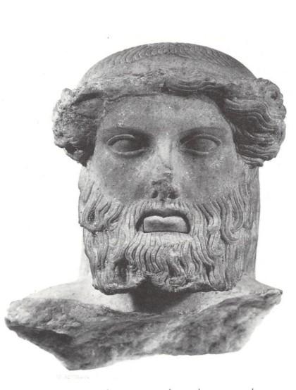 Κεφαλή Ερμαϊκής στήλης από την Αγορά της Αθήνας. Πιθανώς μία από αυτές που κατέστρεψαν οι Ερμοκοπίδαι.