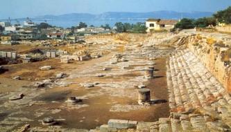 Τα λείψανα του Τελεστηρίου Ελευσίνας