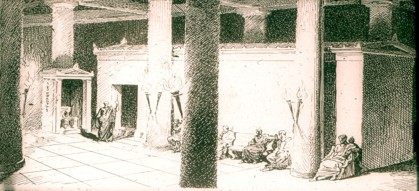 Αναπαράσταση ανακτόρου Τελεστηρίου Ελευσίνας