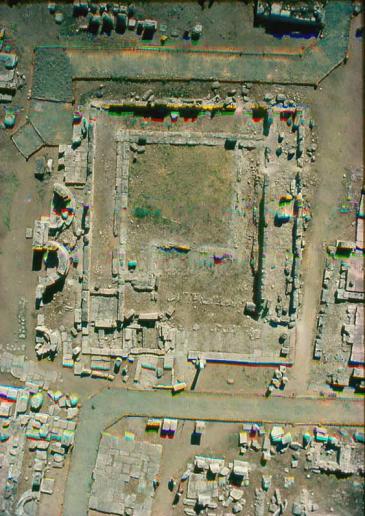 19α. Κάτοψη, αεροφωτογραφία του οικοδομήματος Ε στο Ασκληπιείο της Επιδαύρου