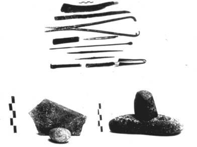 24α. Ιατρικά εργαλεία: μαχαίρια, λαβίδες, τριπτήρες για την κατασκευή φαρμάκων, Ναύπλιο, 15ος π.Χ. αιώνας