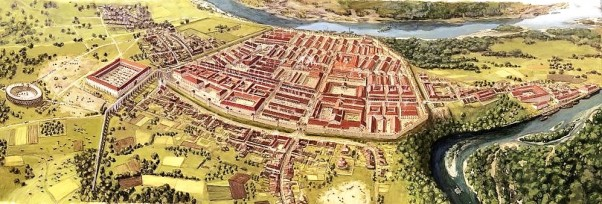 16β. Αναπαράσταση. Θεραπευτήριο σε ρωμαϊκό στρατόπεδο στη Vindonissa, Ελβετία περ. 80 μ.Χ.