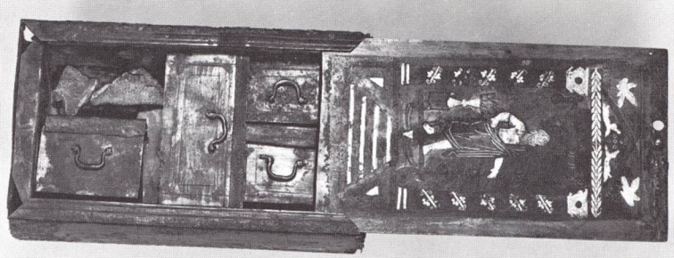 40α-i. Ξύλινο κιβωτίδιο γιατρού για φάρμακα από το Xanten, 1ος μ.Χ. αι., Βερολίνο