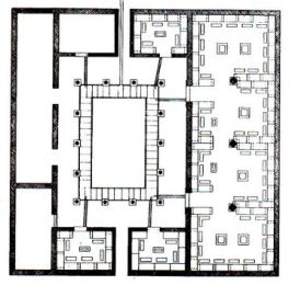 46β. Κάτοψη του ναού του Ασκληπειού στην Τοιζήνα